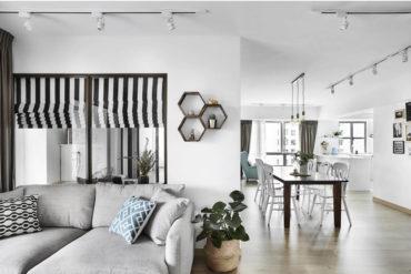Scandi-chic home bears an all-white interior