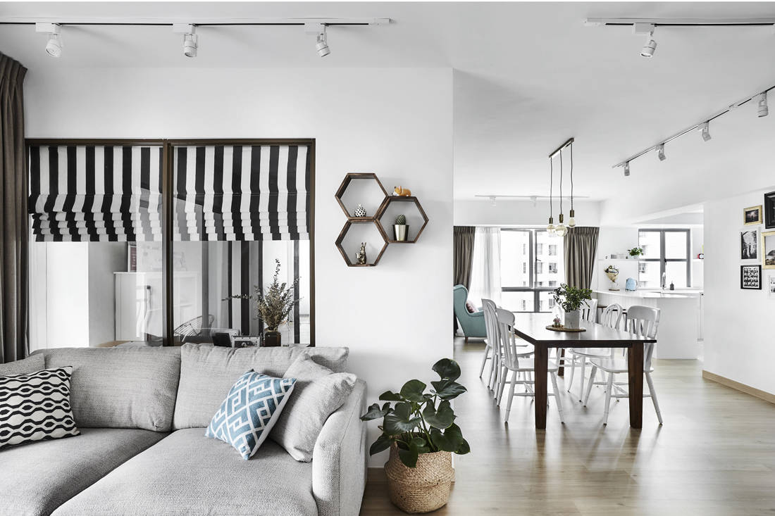 Third Avenue Studio Aquarious by the Park all-white interior living space