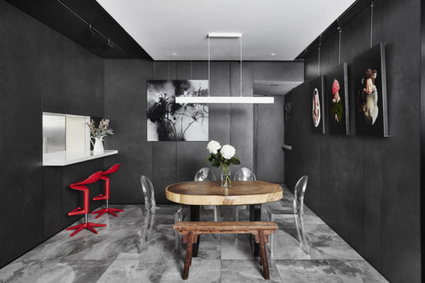 Akihaus Design Studio condomonium apartment interior design for dining space