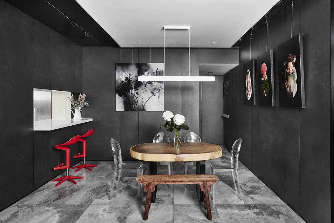 Akihaus Design Studio condomonium apartment interior design for dining space