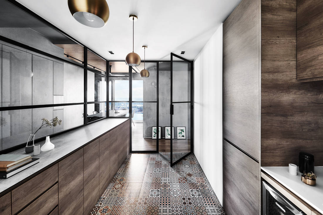 IN-EXPAT moody & masculine condo kitchen design