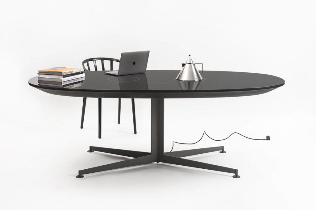 Kartell I-Table designed by Piero Lissoni serves as multifunctional furniture