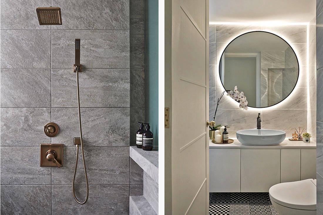 elegantly minimalist minimology condo bathroom