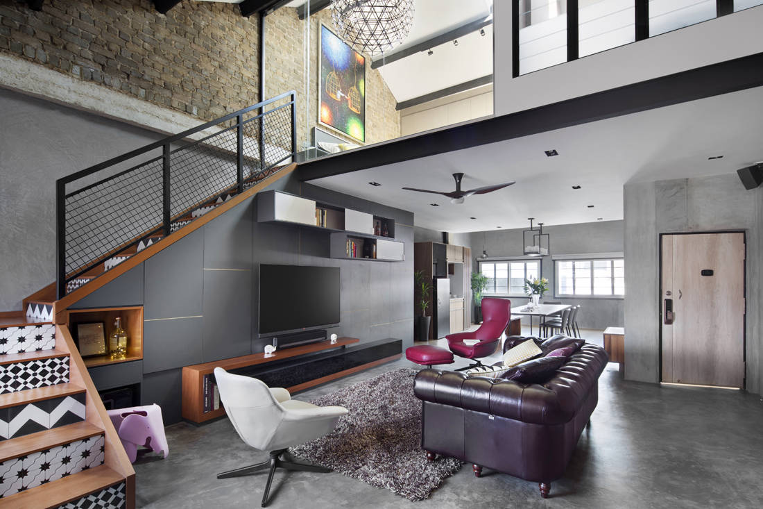 Pre-war apartment turned industrial loft designed by Prozfile