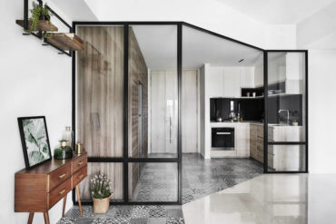 A cleverly designed 690 sqft condo for a family of three