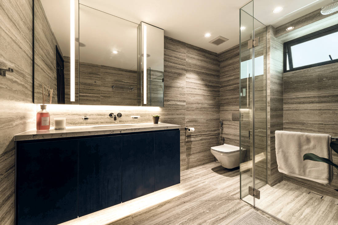 The Orange Cube old to new bathroom with modern finishes