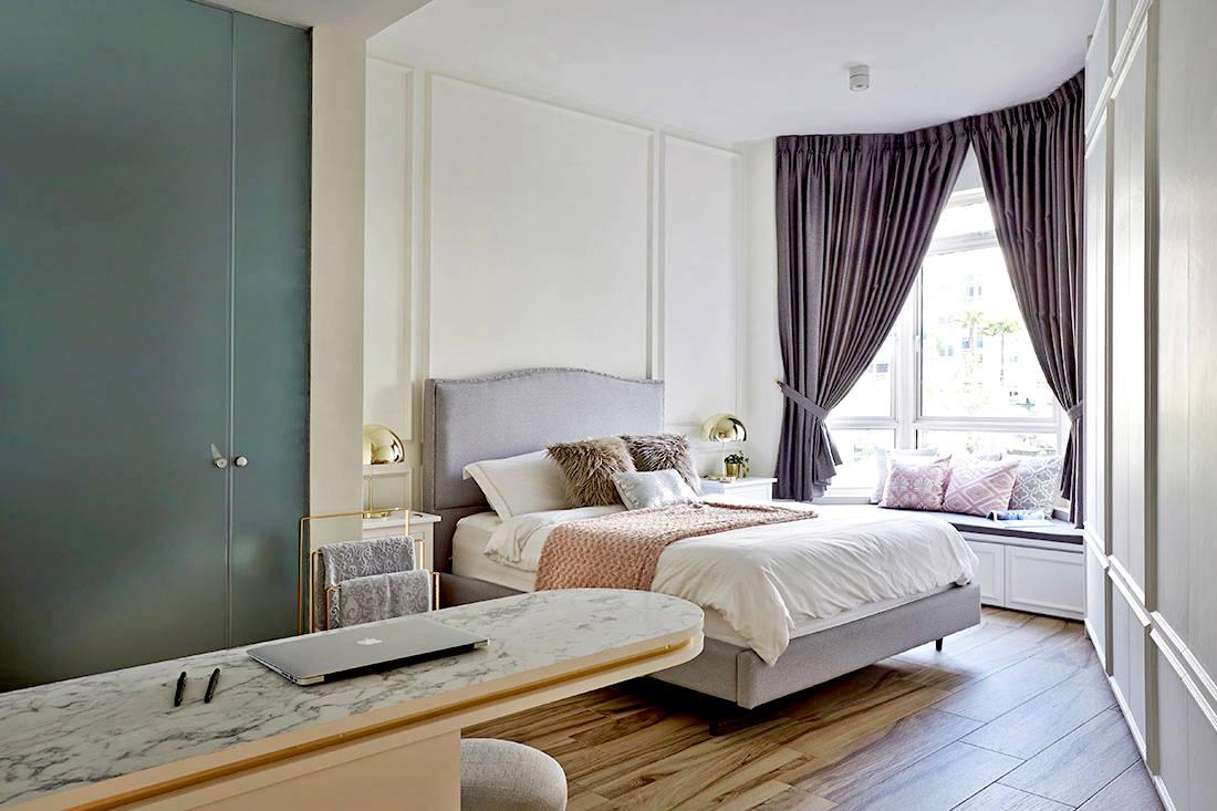 elegantly minimalist minimology condo bedroom