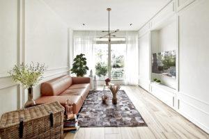 Elegantly minimalist minimology condo living room