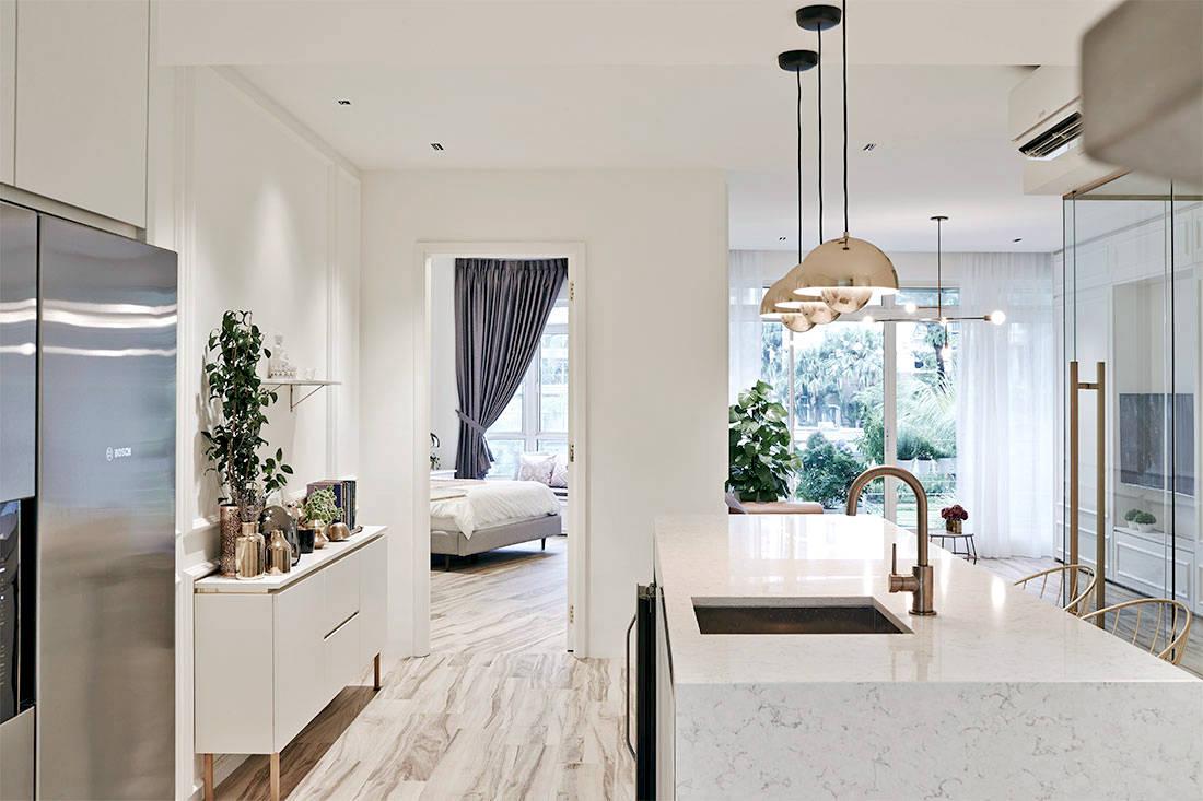 elegantly minimalist minimology condo kitchen