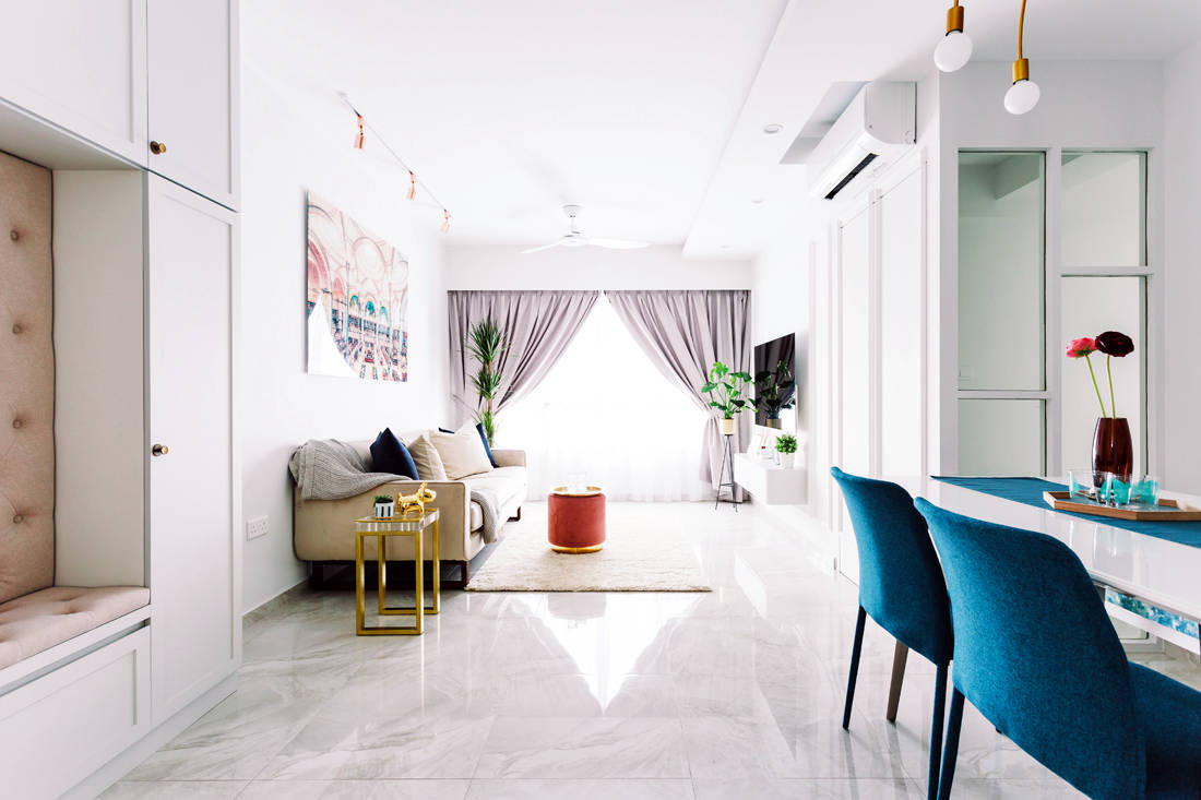 93B Telok Blangah HDB living and dining areas designed by D' Initial Concept.jpg