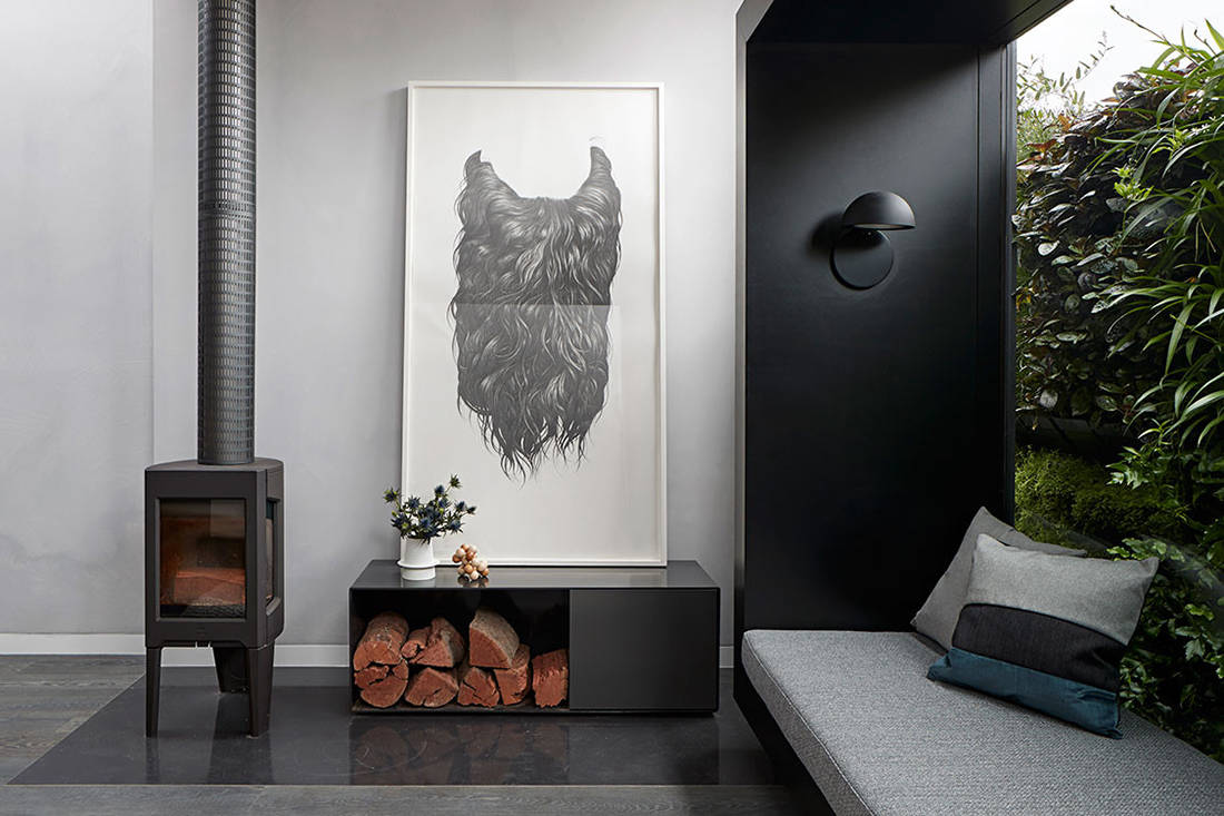 Albert Park House fireplace small footprint living Whiting Architects cc Shannon McGrath