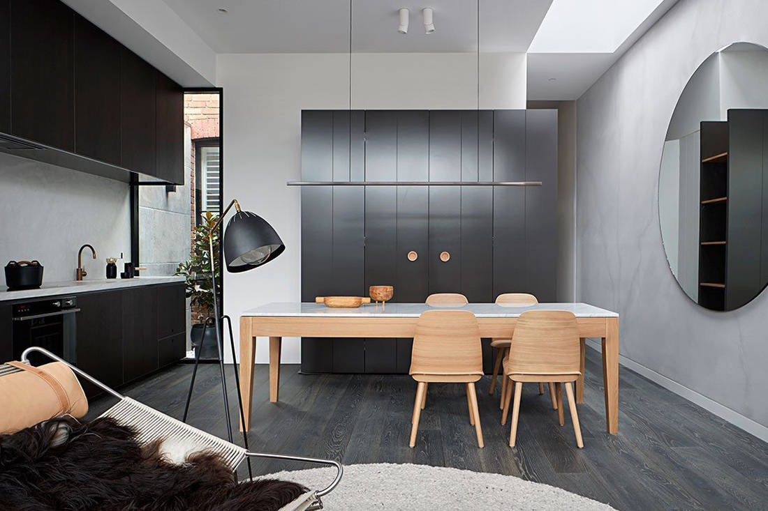 Albert Park House kitchen and dining small footprint living Whiting Architects cc Shannon McGrath