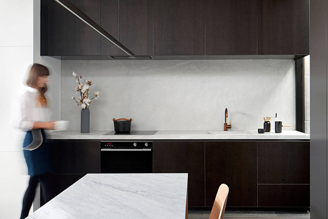 Albert Park House kitchen small footprint living Whiting Architects cc Shannon_McGrath