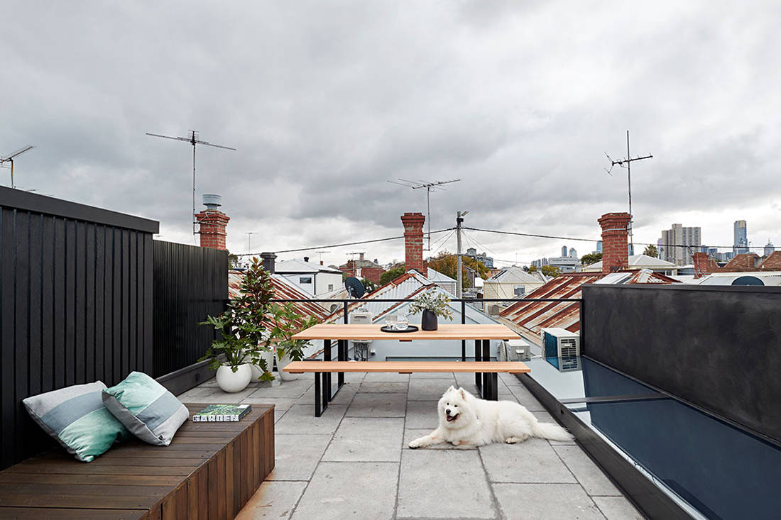Albert Park House rooftop terrace small footprint living Whiting Architects cc Shannon McGrath