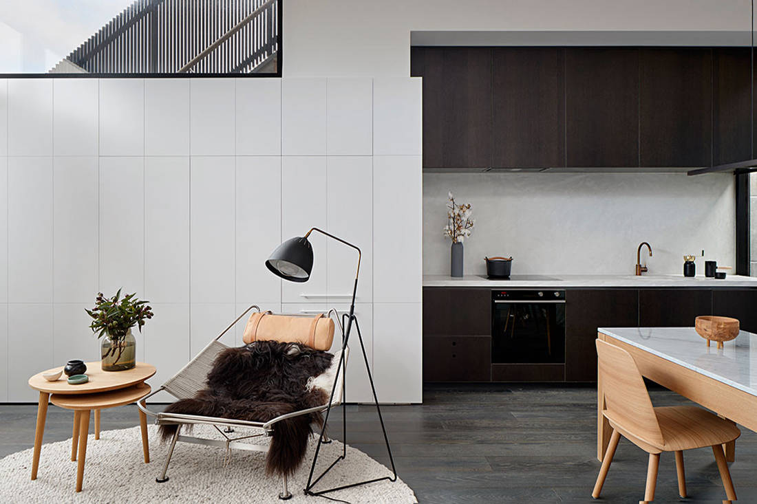 Albert Park House small footprint living Whiting Architects cc Shannon McGrath