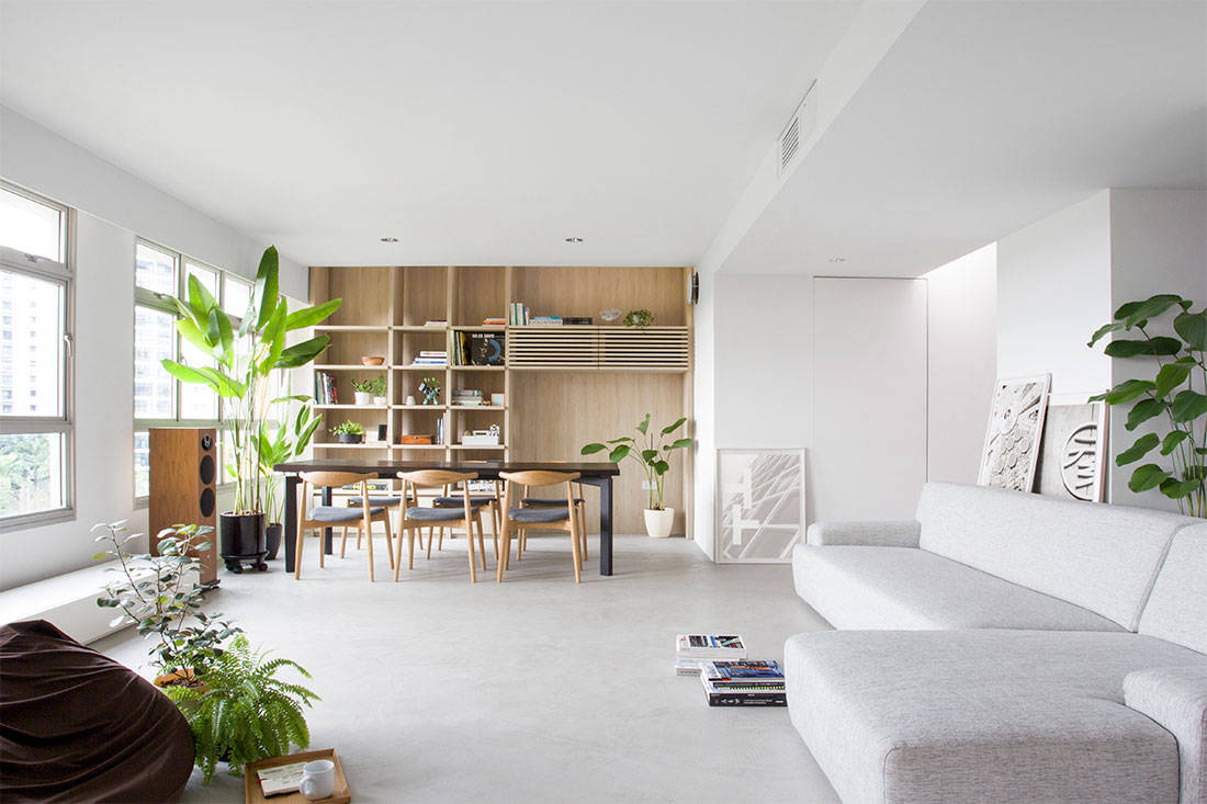 HDB flats nitton architects house in a flat living area