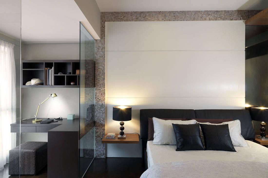 colour palette of Sennett master bedroom by Ultimate Interior Creation