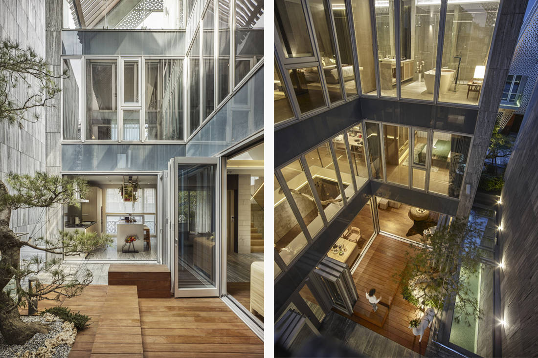 multifunctional spaces atrium How How Living Project Lab Golden Pin Design Award 2018 winner