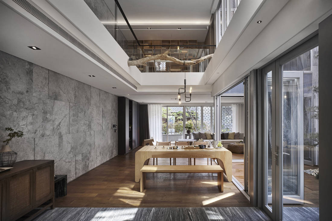 multifunctional spaces dining area How How Living Project Lab Golden Pin Design Award 2018 winner