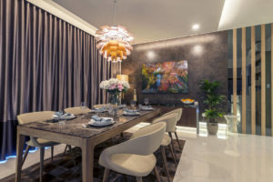 penthouse dining room designed by Meter Square