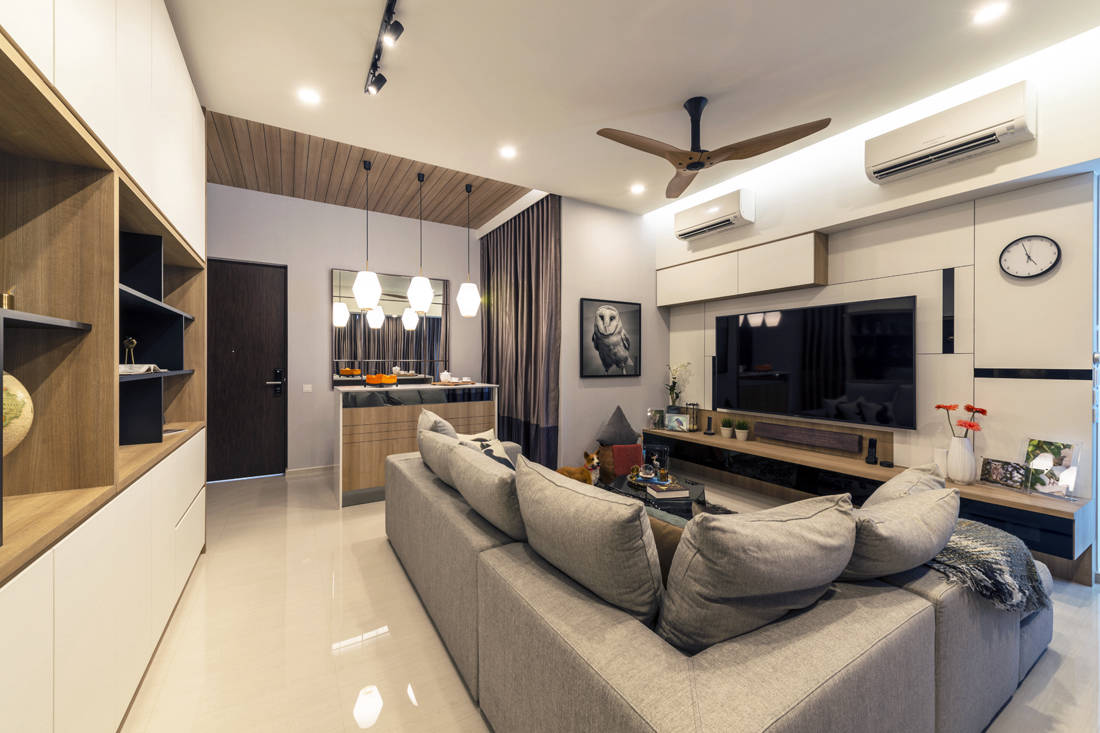 penthouse living room designed by Meter Square