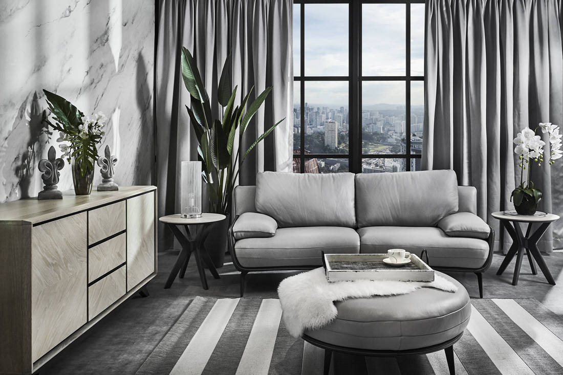 2019 COURTS furniture collection - With over 600 fabric and leather options for selection, COURTS offers a range that spoils for choice (Genevieve 2-seater, S$1,899)