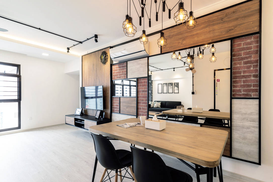 Couple Abode Redhill Road cafe-inspired HDB flat dining area