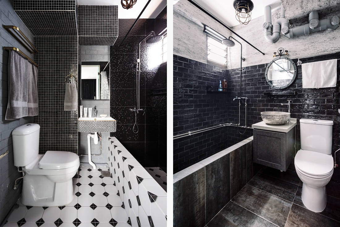D' Initial Concept Geylang Bahru HDB flat bathroom unconventional home
