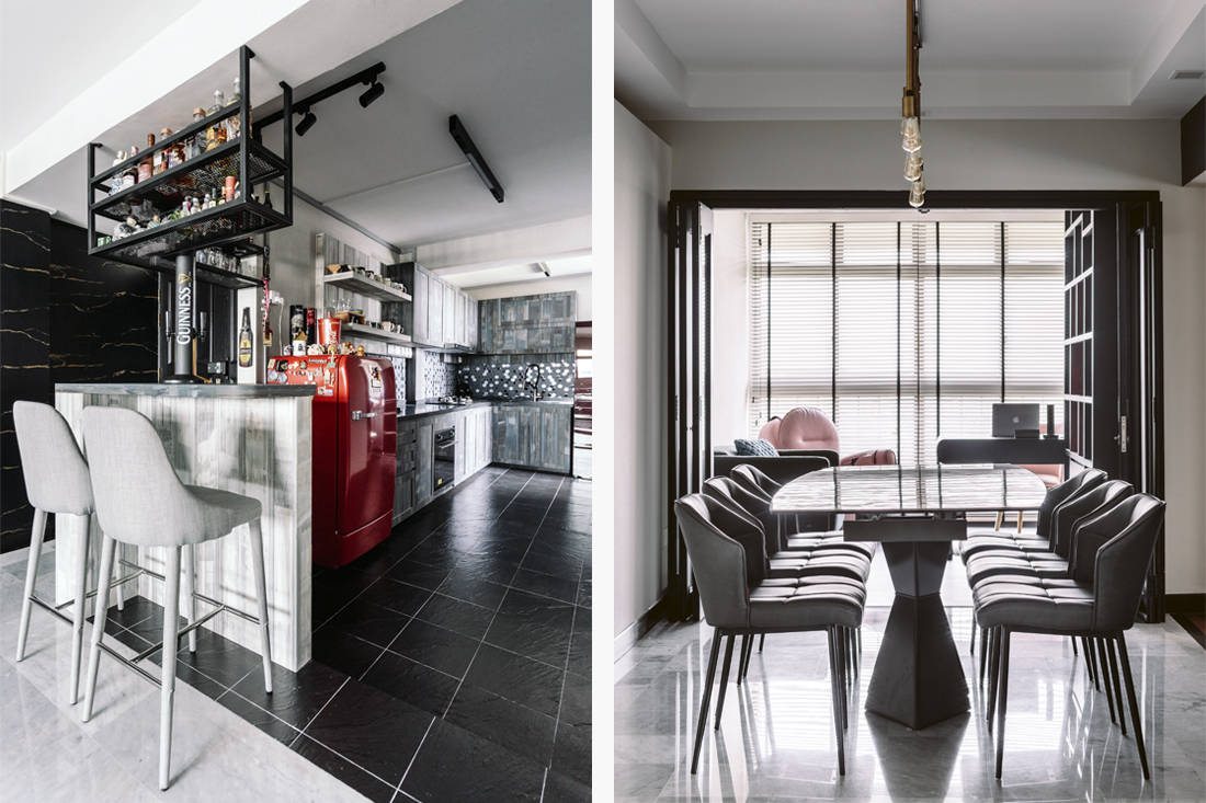 D' Initial Concept Geylang Bahru HDB flat kitchen and dining unconventional home