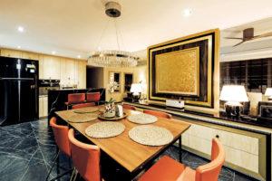 Fatema Design Studio HDB Executive Apartment dining area