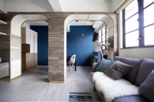 Sim-Plex Design Studio Arch Co-Residence tenement apartment arch wall