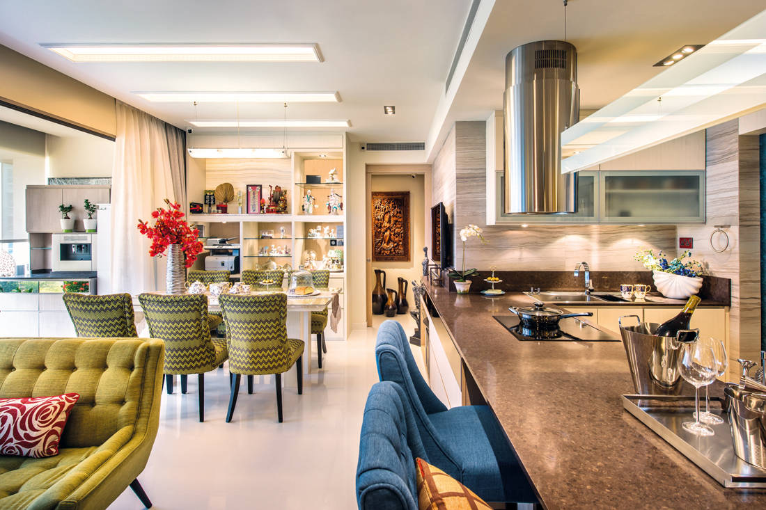Ultimate Interior Creation Ascentia dining and kitchen - condo with practicality