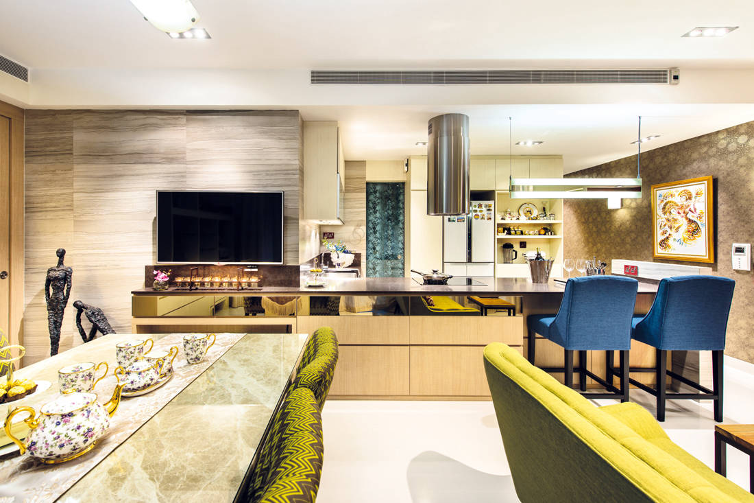 Ultimate Interior Creation Ascentia kitchen - condo with practicality