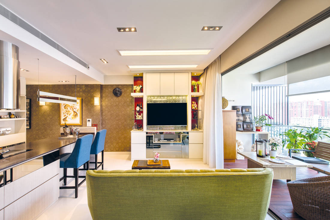 Ultimate Interior Creation Ascentia living area - condo with practicality