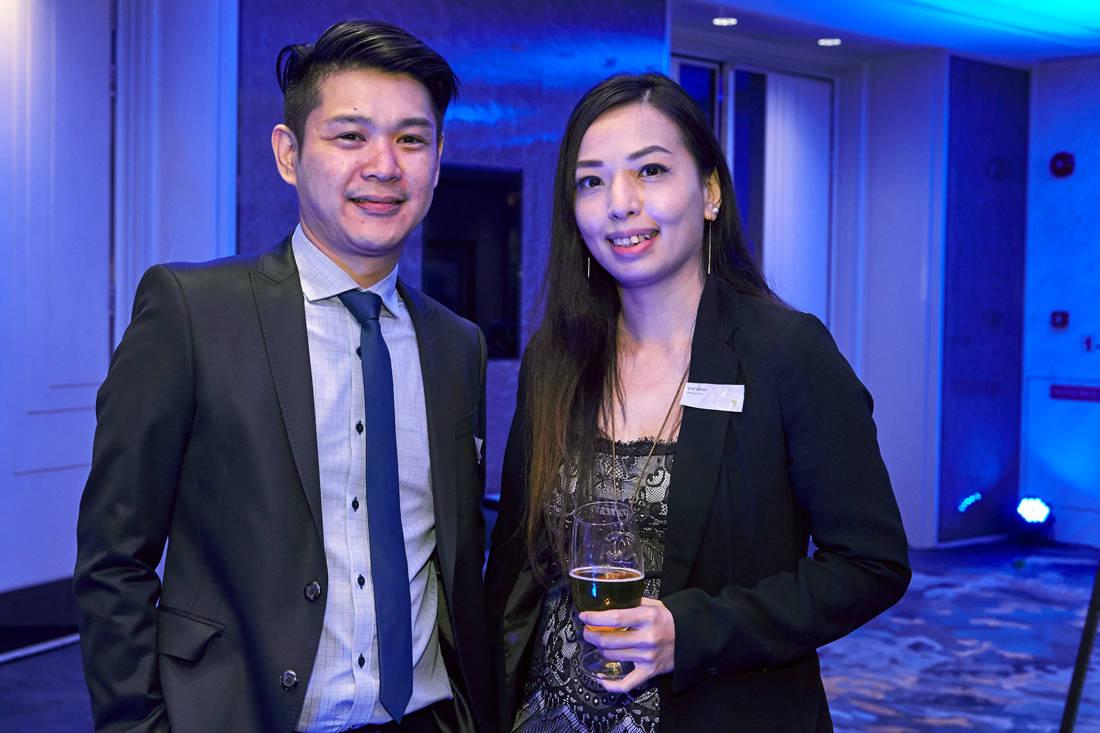 Andy Chia and Eve Quah (hansgrohe) at LBDA 2018 Gala Night