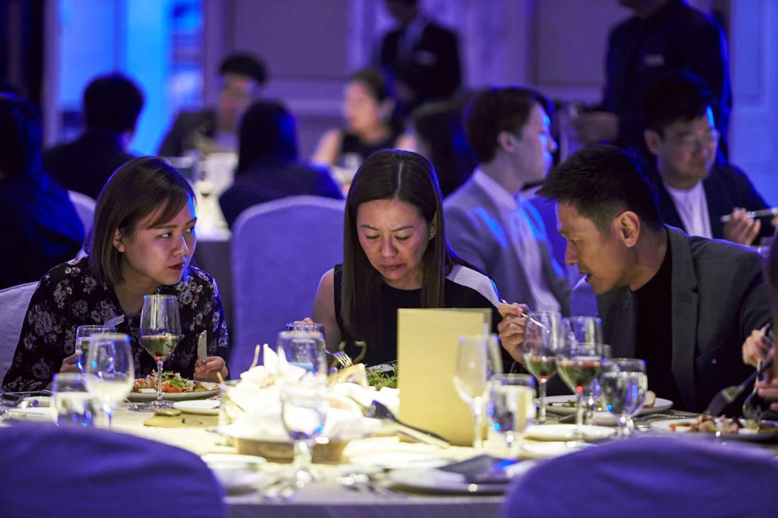 Guests enjoying their dinner at LBDA 2018 Gala Night