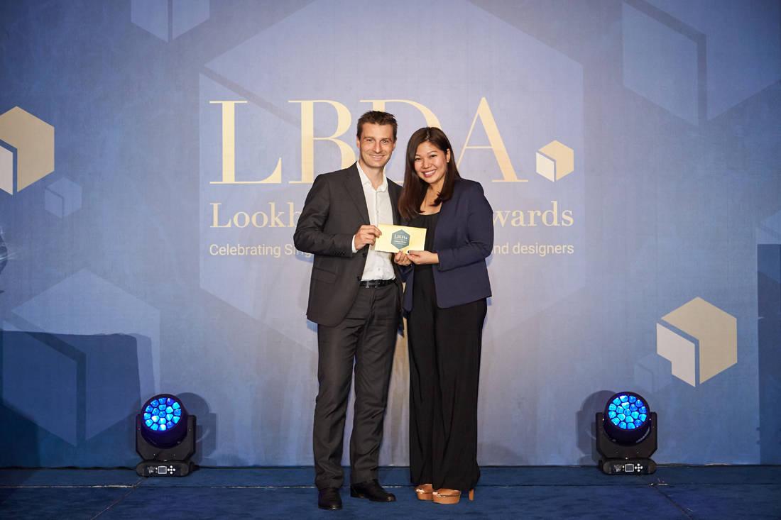 Johannes Krabichler (BOSCH) and lucky winner at LBDA 2018 Gala Night