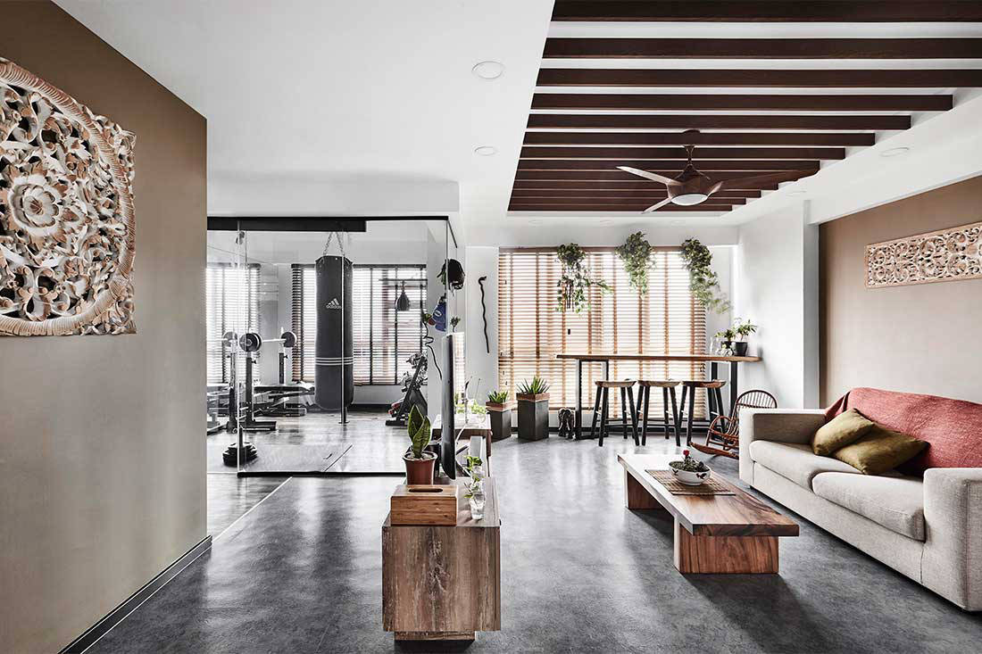 Lookbox Living top 10 most read stories of 2018 - HDB flat turned resort home with gym by Design Zage