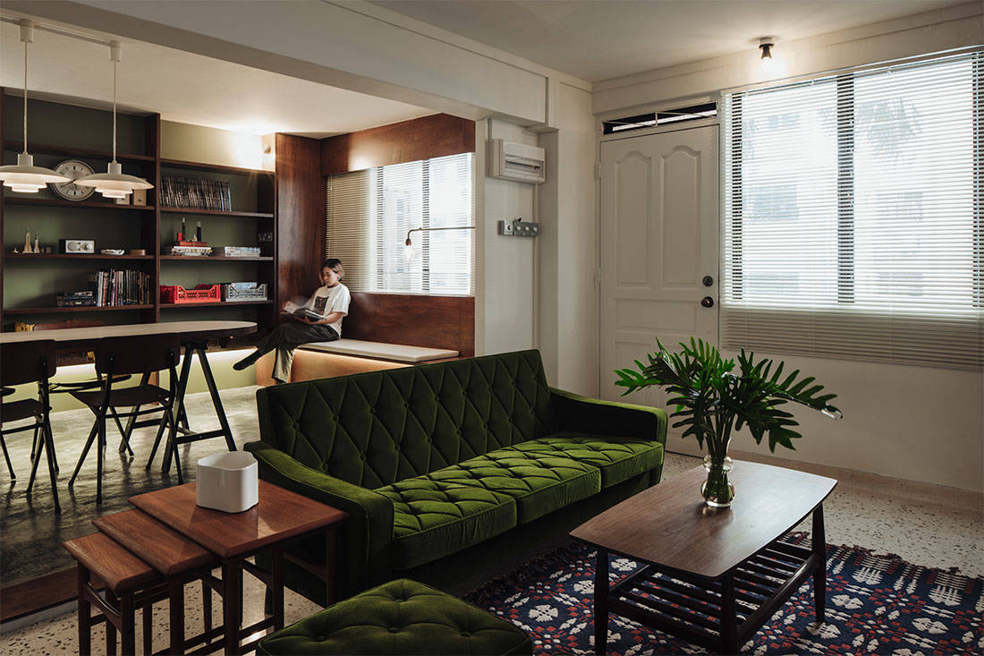 Lookbox Living top 10 most read stories of 2018 - mid-century modern HDB flat by Monocot Studio