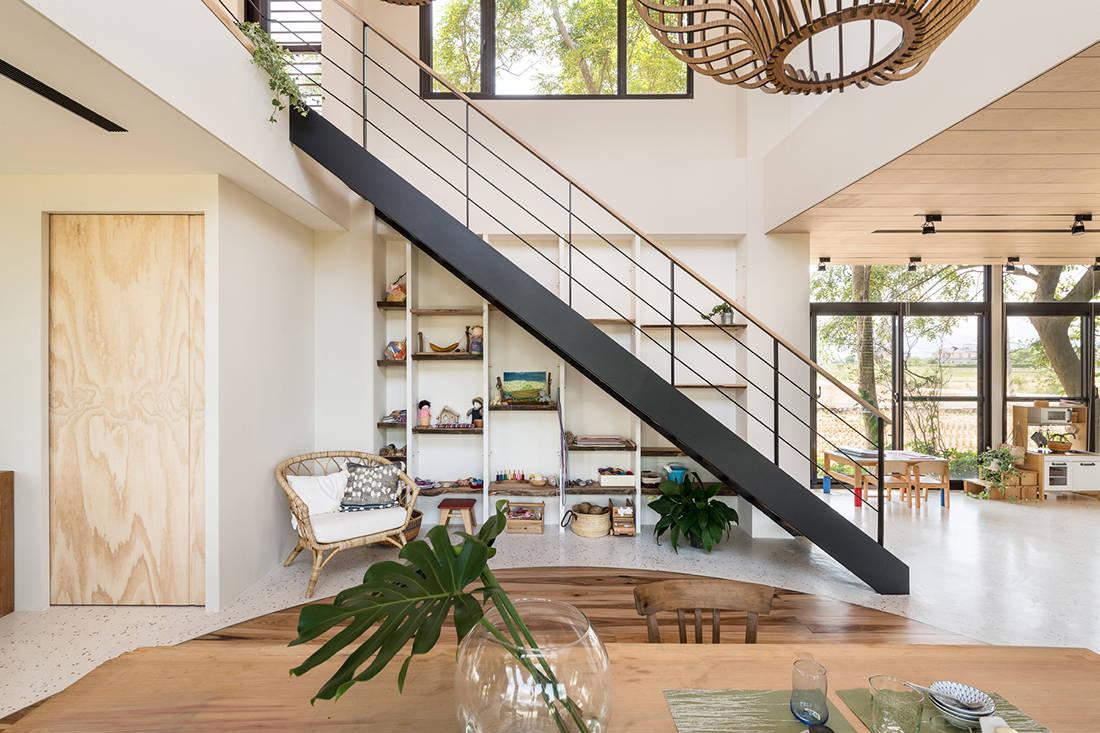 Symbiotic House reading nook by C.H.I. Design Studio