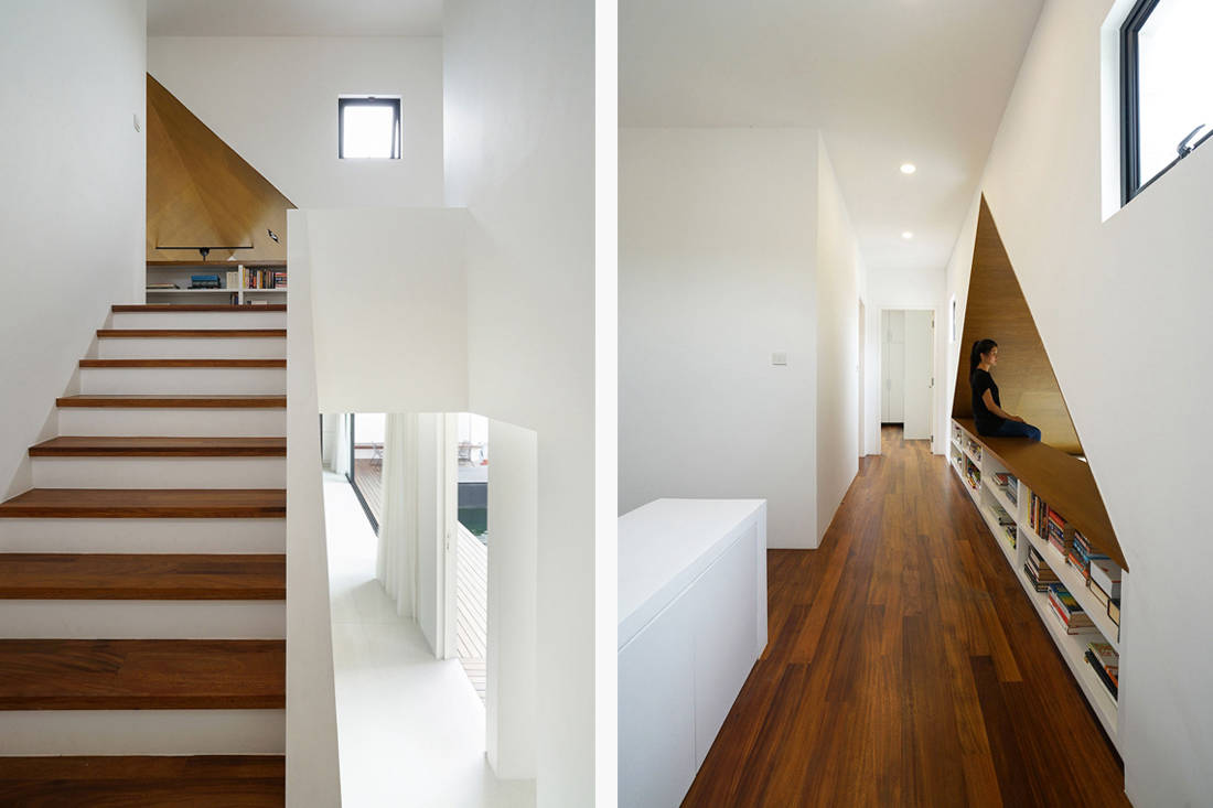semi-detached house by Fabian Tan Architect - stairs and landing
