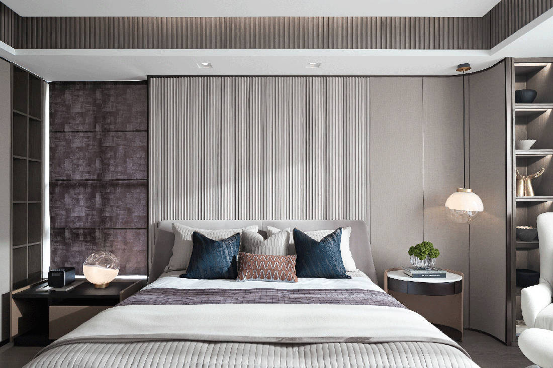 Mangrove Bay Citic Zhuhai penthouse bedroom by Cheng Chung Design
