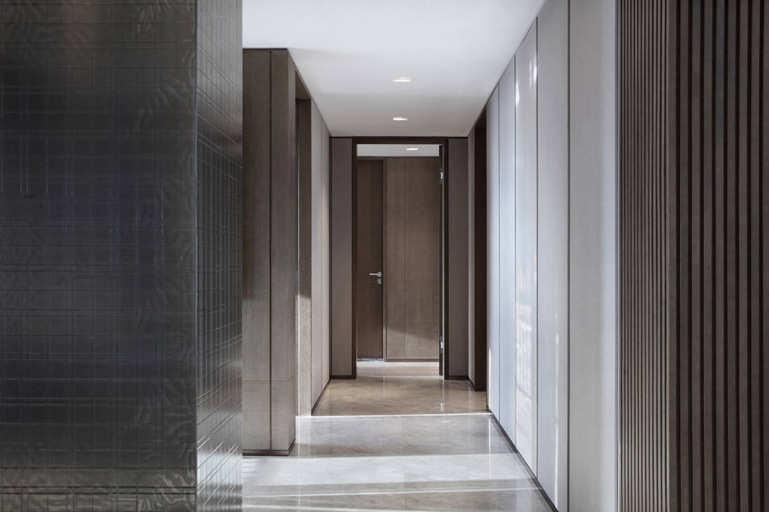 Mangrove Bay Citic Zhuhai penthouse corridor by Cheng Chung Design