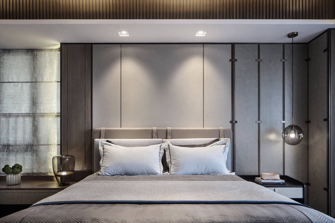 Mangrove Bay Citic Zhuhai penthouse master bedroom by Cheng Chung Design