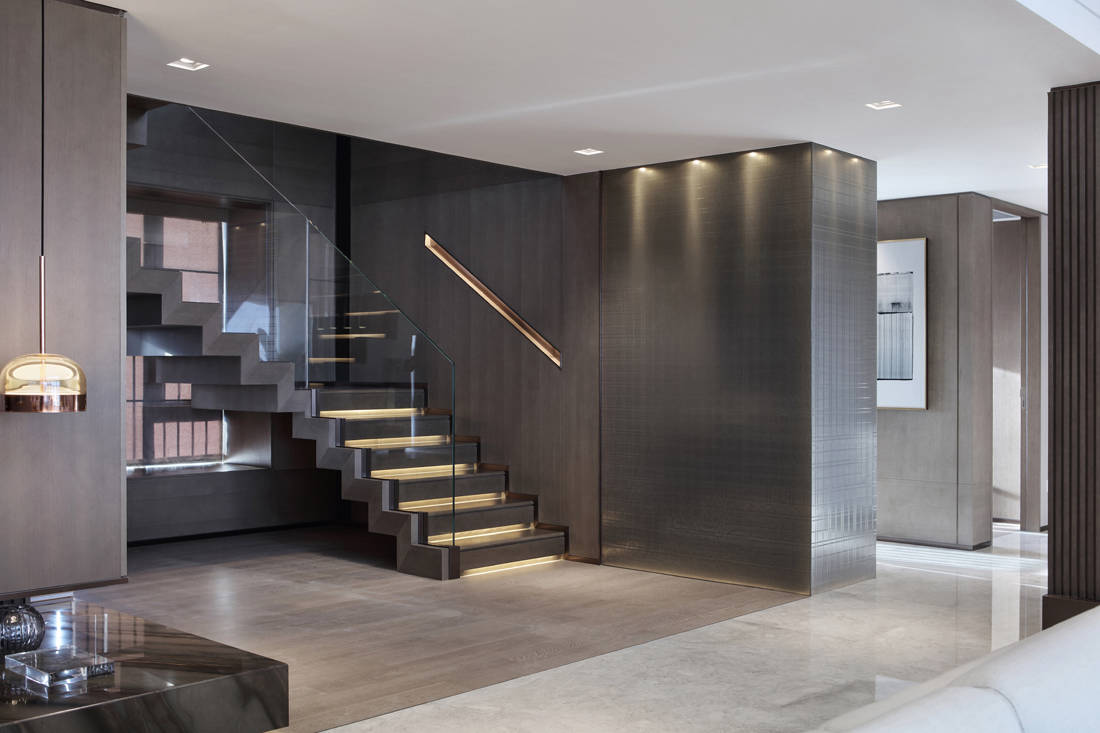 Mangrove Bay Citic Zhuhai penthouse stairs by Cheng Chung Design