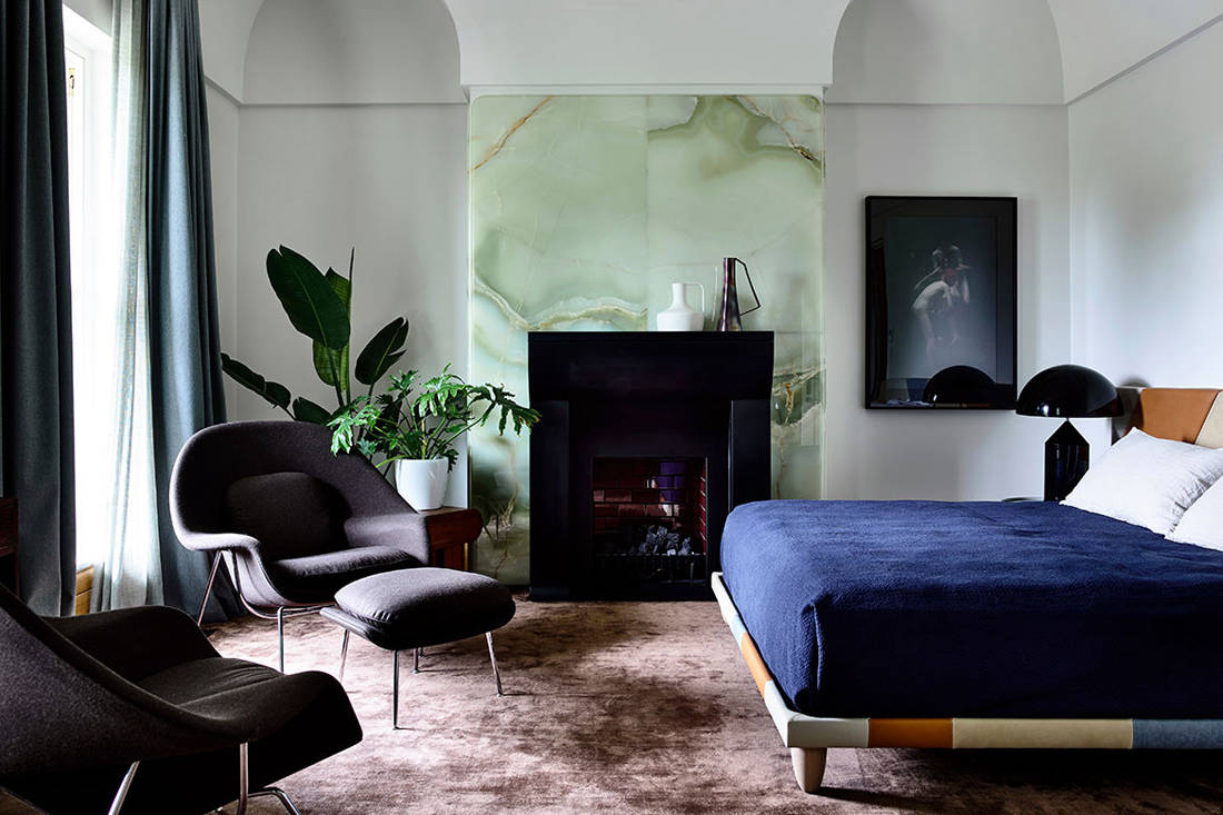 St Vincents Place bedroom by B.E. Architecture