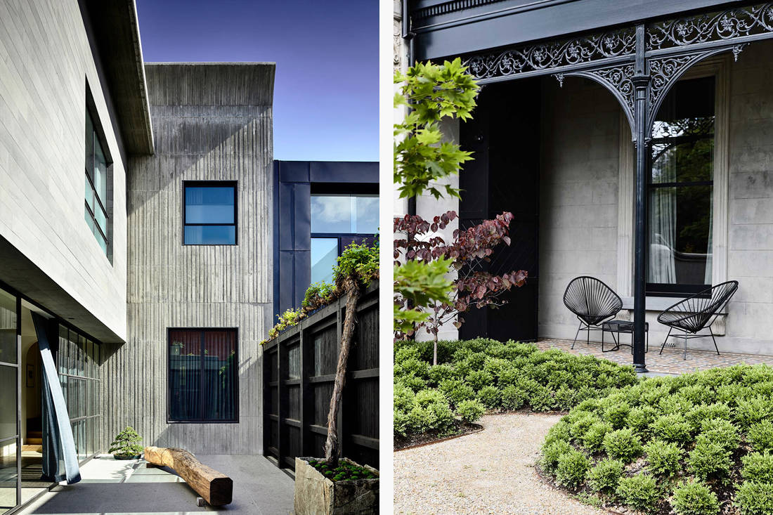St Vincents Place courtyard and verandah by B.E. Architecture