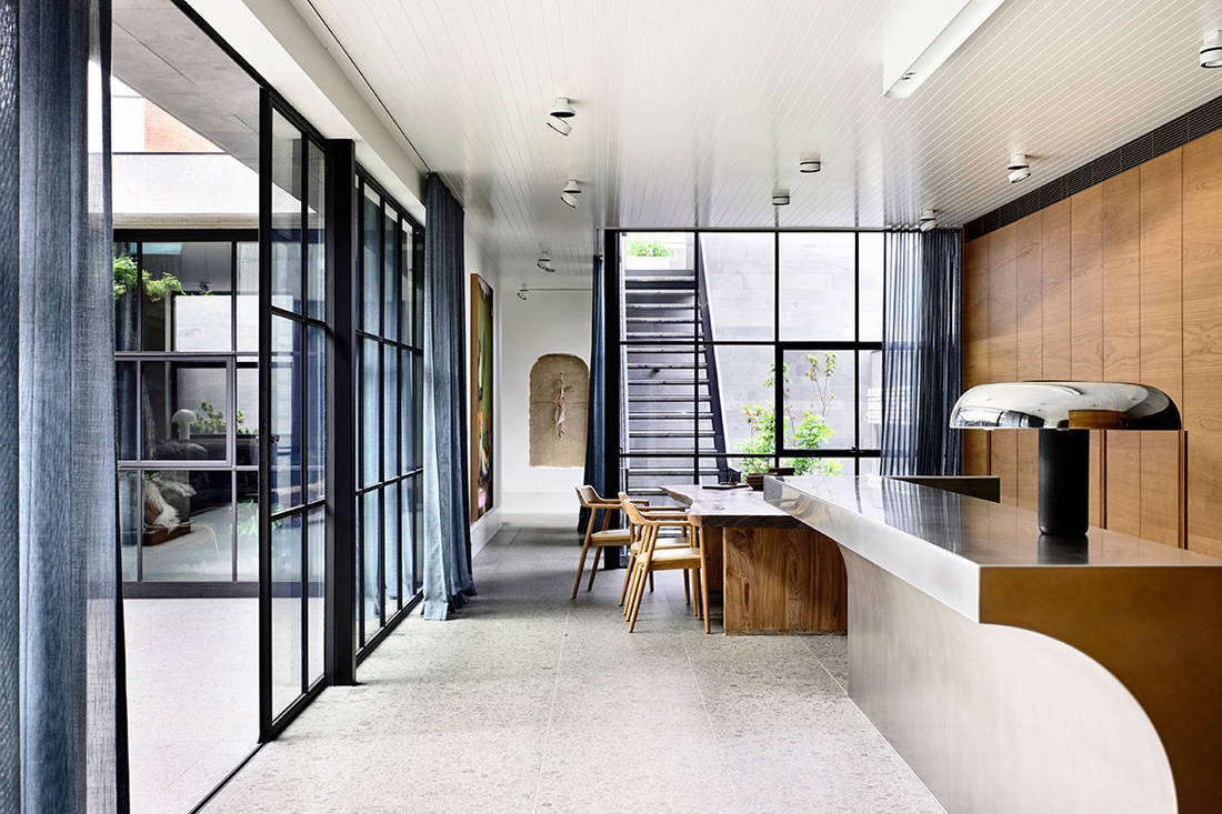 St Vincents Place kitchen & dining by B.E. Architecture