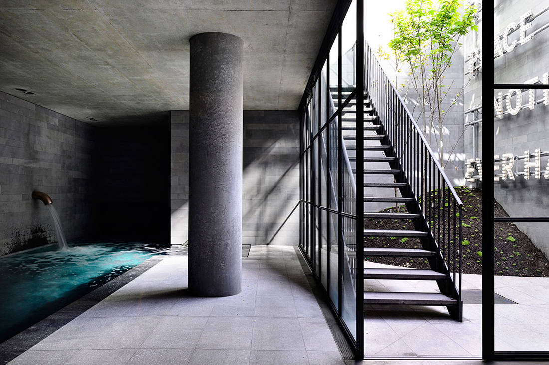 St Vincents Place pool by B.E. Architecture