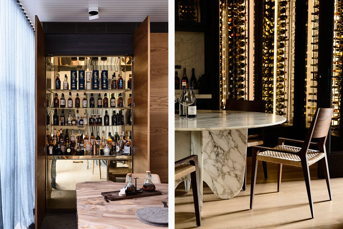 St Vincents Place wine-tasting room by B.E. Architecture
